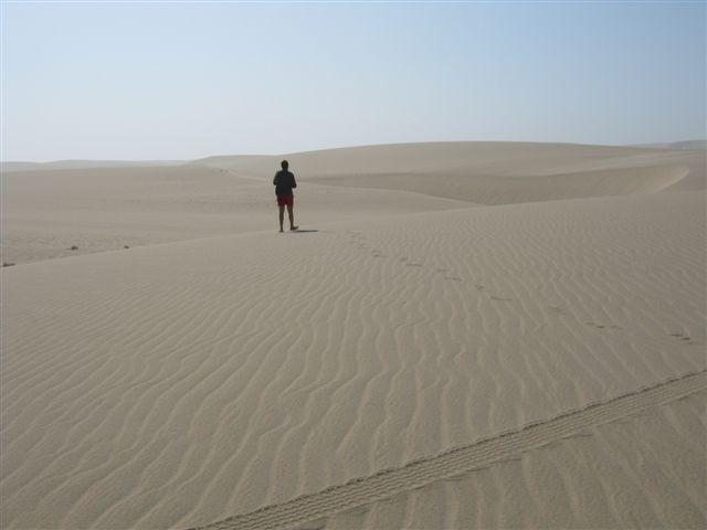 Andando pelo deserto